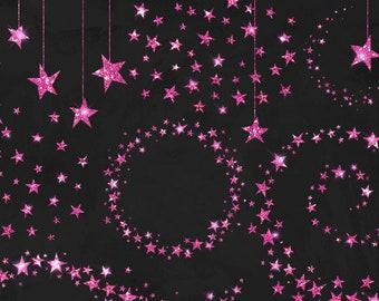 Pink Glitter Stars Clipart, Glitter Clip Art, Glitter stars, Celestial starry night sky PNG Digital Baby Shower Sparkle png clipart