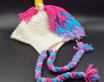 Crochet Unicorn Hat