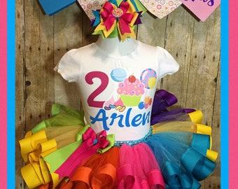Candyland tutu, candy tutu, rainbow tutu, candyland party dress, candy land dress, candyland party, candy tutu, cupcake tutu, candy tutu