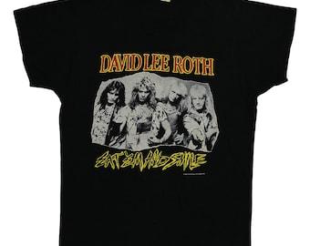 David Lee Roth Shirt Vintage tshirt 1986 Eat Em And Smile concert tee 1980s Original band rock