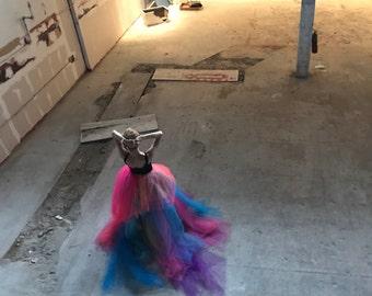 Women's Tutu, Rainbow Tulle Skirt, Rainbow Tutu, Women's Skirt, Costume, Tutu Skirt, Rainbow Skirt, rainbow tutu