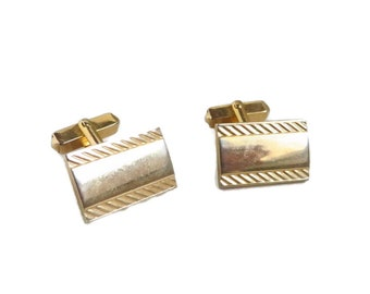 Swank Cufflinks, Vintage Cuff Links, Gold Tone Cufflinks, Men's Suit Accessory, Father's Day Gift