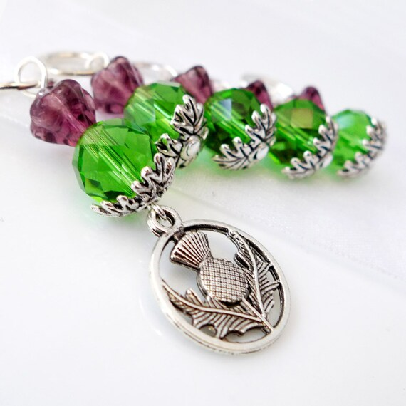 Thistle O' Scotland - Outlander Series - Five Handmade Stitch Markers - Fits Up To 6.5mm (10.5 US) - Limited Edition