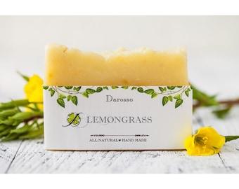Lemongrass Soap,  All Natural Soap, Handmade Soap, Detox Soap, Vegan, Gift for him, Gift for her, Luxury Soap, Organic Soap