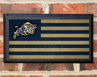 US Navy Flag Midshipmen Get Em Goat Wall Art Sign Plaque Gift Present Home Decor Vintage Style USNA Sailor Naval Academy Football Classic