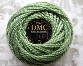 DMC 368 Perle Cotton Thread Size 5 Light Pistachio Green