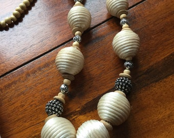 Cotton silk necklace