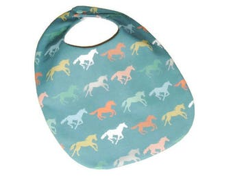 Horses Baby Bib - Unisex Baby Gift Under 15