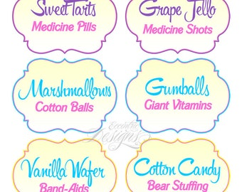 Set of 16 Premade Doc McStuffins Food Labels | You Print | Doc McStuffins Birthday Party  sc 1 st  Etsy & Doc mcstuffins candy | Etsy