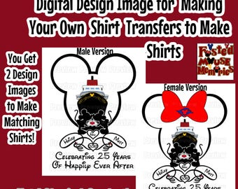Digital Anniversary Disney Cruise Shirt Transfer Image DIY Disney Shirts Personalized Disney Anniversary Shirts Disney Cruise Anniversary