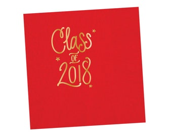 Graduation Napkins | RED & GOLD (in-stock)