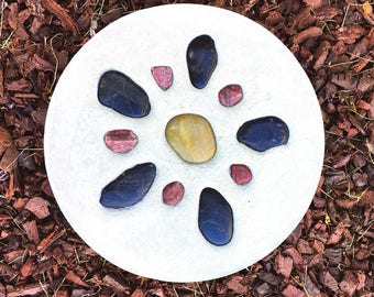 Natural Flower Stepping Stone