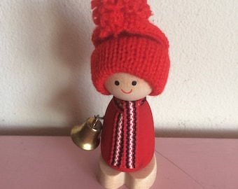 Vintage Swedish Pixie Boy with Bell