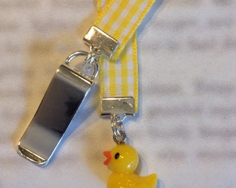 Rubber Duck bookmark, Cute Duck Bookmark / Duckie - Attach to book cover then mark the page with the ribbon. Never lose your cute bookmark!