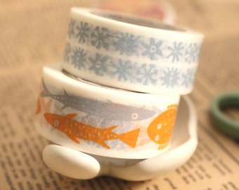 MT ex 2014 - Japanese Washi Masking Tape - Fish or Flower By Bengt & Lotta at your choice for packaging, craft projects