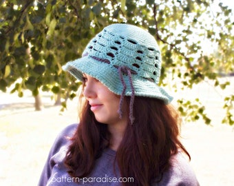 Crochet Pattern for Sage Sunhat Brimmed Hat ,  PDF 16-289