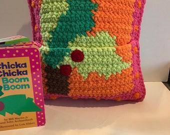 Crochet Chicka  Chicka Boom Boom Pillow