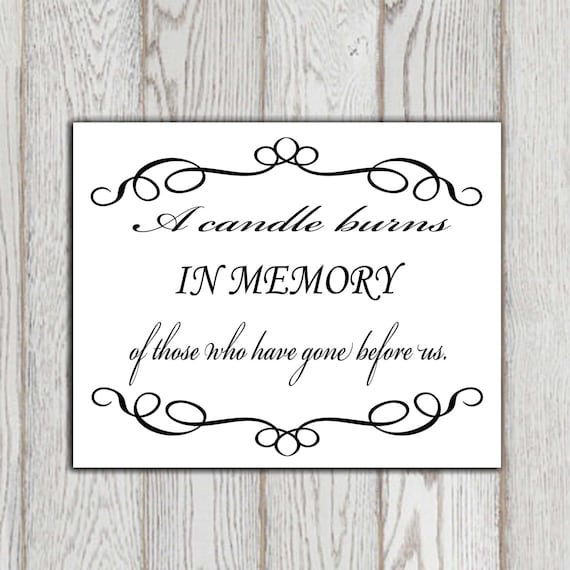 In Loving Memory Quotes Classy In Loving Memory Printable Memorial Table Wedding Memorial