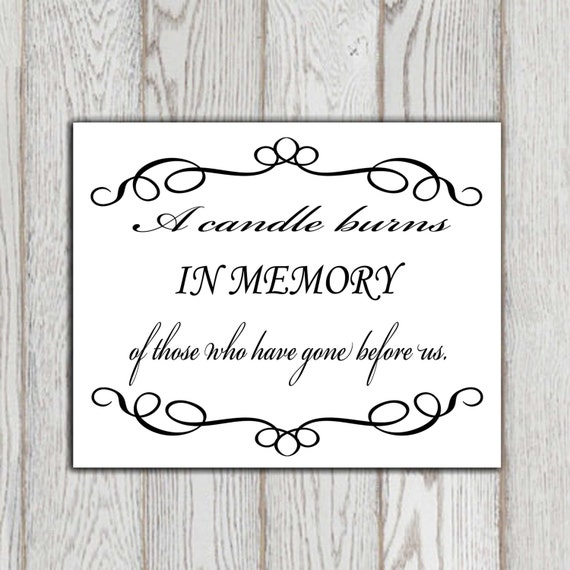 In Loving Memory Quotes Magnificent In Loving Memory Printable Memorial Table Wedding Memorial