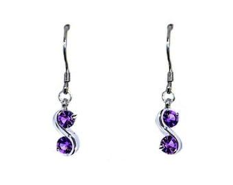 """Earrings """"Double infinity Amethyst purple"""""""