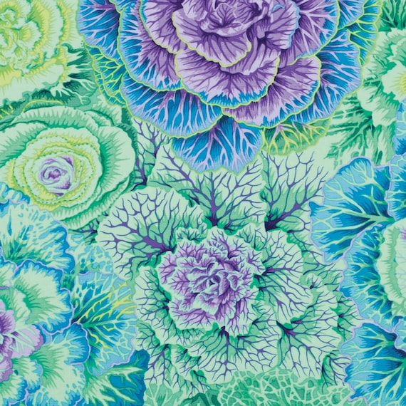 BRASSICA GREEN PJ51 Philip Jacobs Kaffe Fassett Collectives Sold in 1/2 yd increments