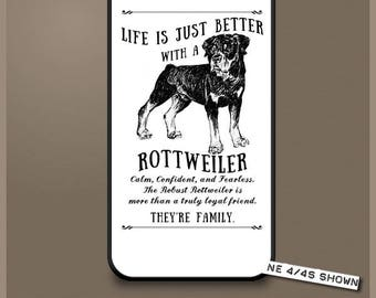 Rottweiler dog phone case cover iPhone Samsung ~ Can be Personalised
