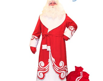 russian santa claus costume father frost russian santa claus grandfather frost old - Santa Claus Coat