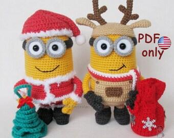 Amigurumi Christmas : Crochet pattern santa amigurumi christmas doll english from