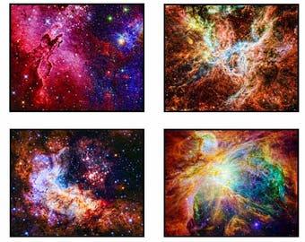 Galaxy print Universe Print galaxy art space painting Northern Lights celestial print Cosmos print Constellation Art modern home decor