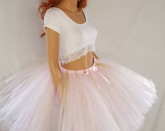 Adult or Child Pink and Gold Sparkle Tutu