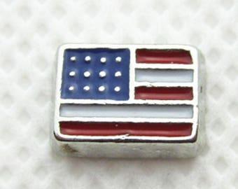 Flag Floating Charm for Glass Memory Locket FC9 - 1 Charm