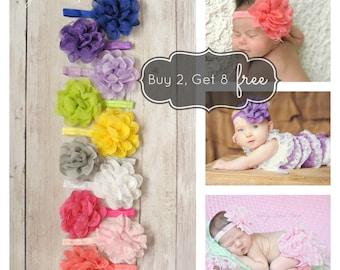 8 FREE HEADBANDS, Baby Headband , Newborn Headband, Lace Flower, Preemie,Baby Girl,Infant,Headband,Baby Headbands,Wedding,Baptism, hair bows