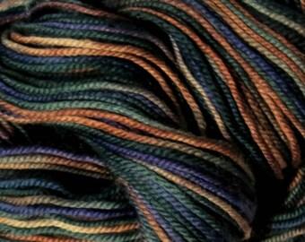 Handpainted Sport Weight Merino Wool Yarn blue purple pink Delphinium