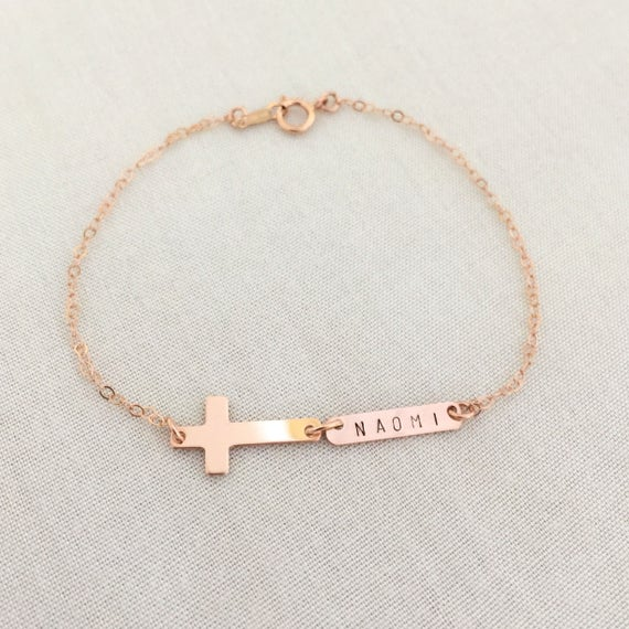 filled shop gold girl etsy kykysbabyboutique on baby personalized bargains baptism bracelet gift initial