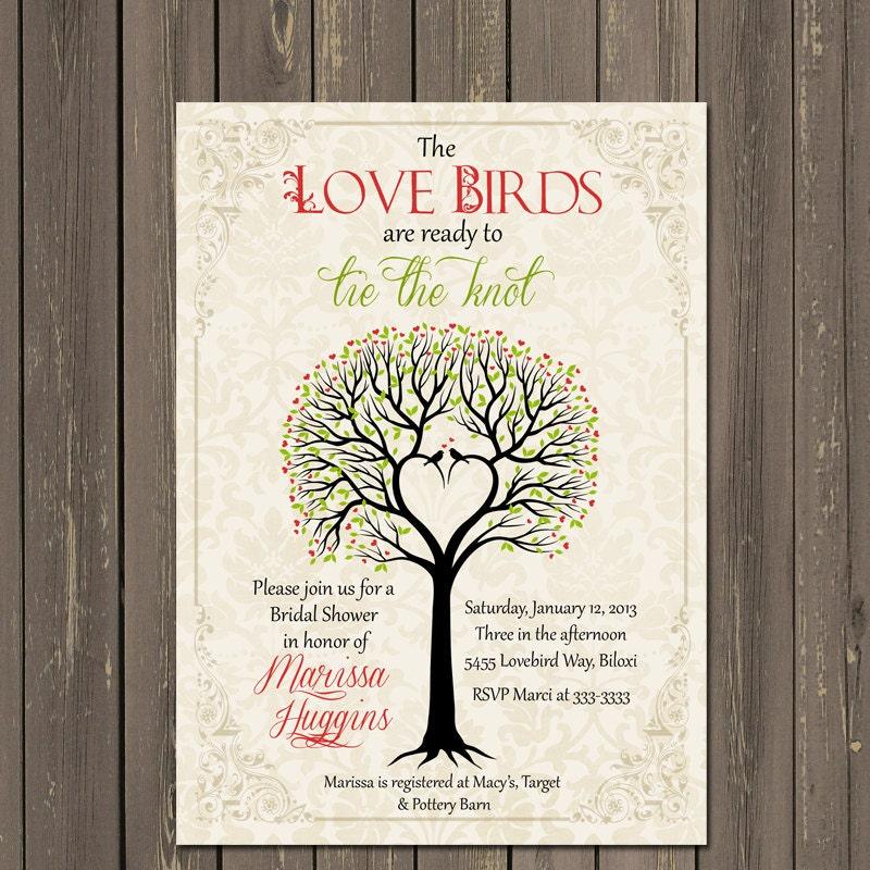 Bird Bridal Shower Invitation Love Birds Bridal Shower