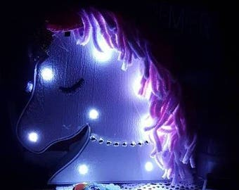 Beautiful Unicorn/ Butterfly Night Light for Kids Bedroom