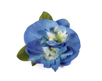 Tropical Pinup Double Blue Orchid Hair Clip