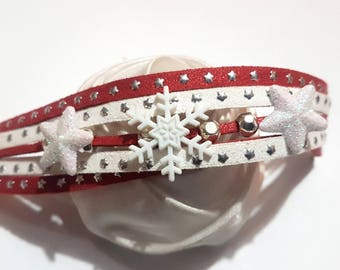 Bracelet magic of Christmas and snowflakes