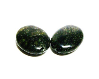 "Serpentine, serpentine beads, serpentine cabs, green black cabs,wire wrapping,  jewelry making, jewelry supplies, ""Terrible Two's"""