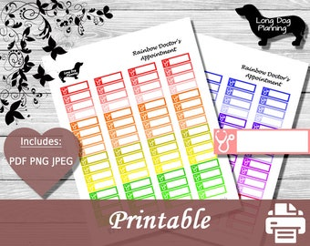 Doctors Appointment Planner Stickers -Labels-Happy Planner-Erin Condren-Reminder-MAMBI-Classic Planner-Mini Planner