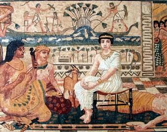 Cleopatra Egyptian Scene Mosaic Art