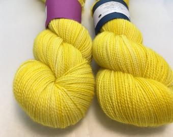 Full Moon Yarn - Dandelion - Ready to Ship - Hand Dyed - Merino Wool Yarn - Fingering Weight