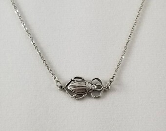 Sale Scarab Necklace, Egyptian Scarab Necklace, Scarab Beetle, Scarab Jewelry, Clearance Jewelry, Discounted Jewelry