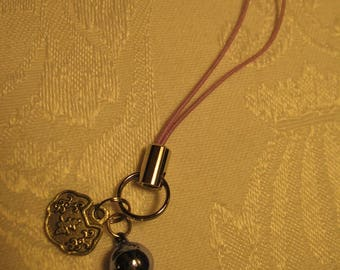 Good Luck and Long Lasting Love Omamori Amulet Talisman Charm with Small Lavender Bell