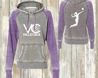 Volleyball Zen Raglan Hoodie