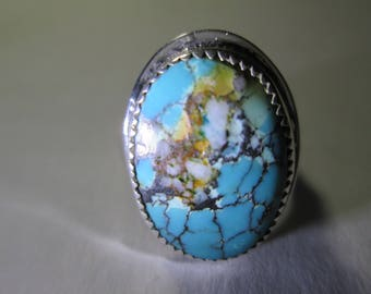 Ring...sterling silver, size 6... Turquoise from Nevada