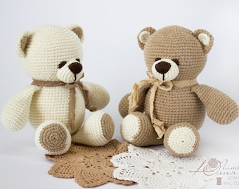 Crochet toy Amigurumi Knitted toy Baby toys Stuffed bear Baby gift soft toy Gift for boy girl Teddy bear  Knitted bear Handmade