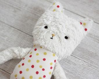 Organic Cat Toy // stuffed animal, organic toys, kids cats, toddler toys, organic baby, cat lover gift, natural soft plush, cat doll, kapok