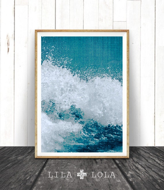 Beach decor ocean wave art print coastal printable art