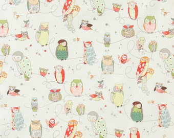 Highly Popular Spotted Owl Fabric by Alexander Henry - Designer Fabric for Kids and Babies